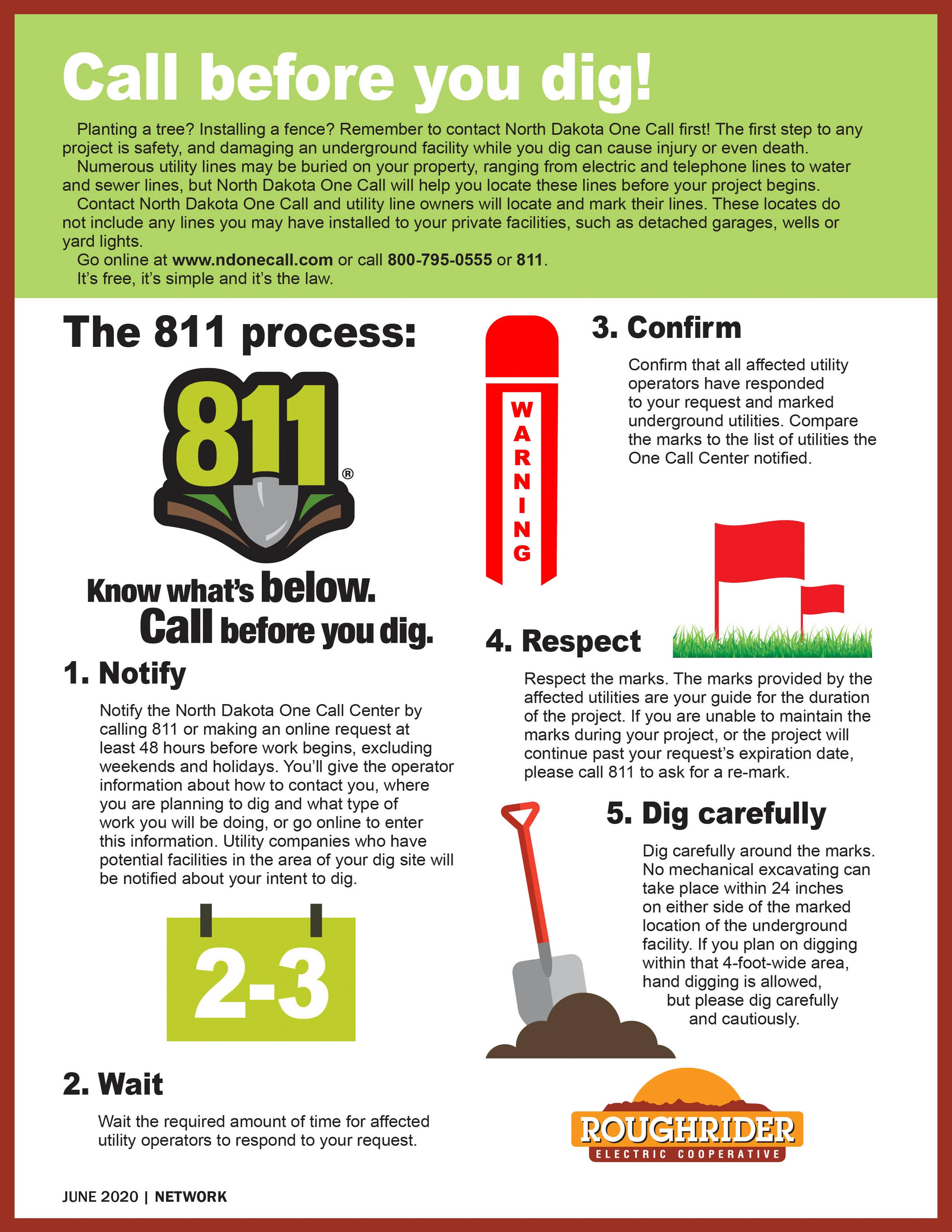 Call Before You Dig Process
